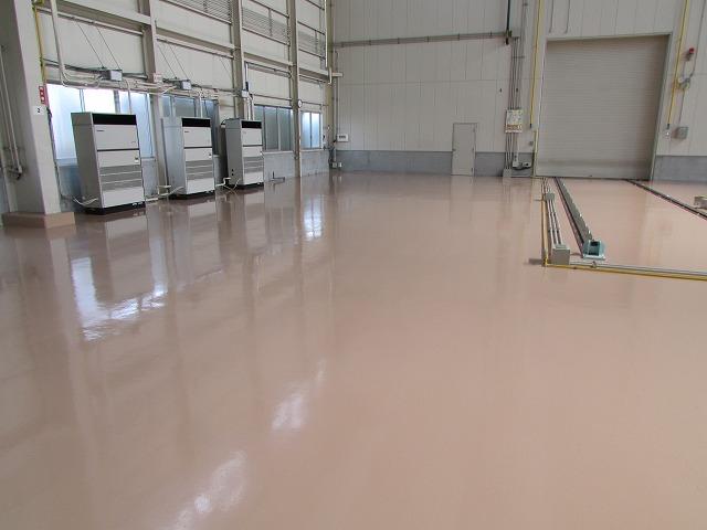 ヤンマーの塗床工事の完成