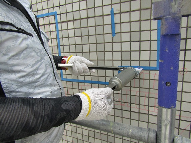 エポキシ樹脂注入作業