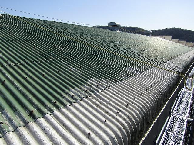 大型倉庫の屋根